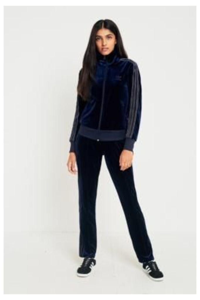 adidas Originals 3-Stripe Navy Velvet Track Pants, Navy