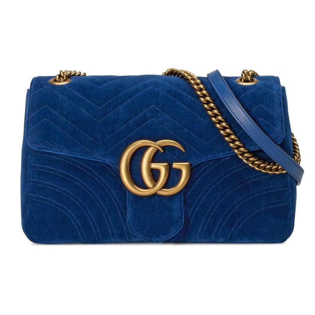 GG Marmont medium velvet shoulder bag