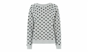Flocked Spot Sweatshirt