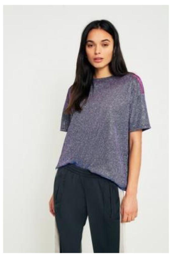 Light Before Dark Iridescent Oversized T-Shirt, Purple