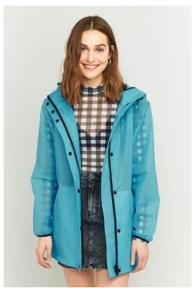 Light Before Dark Cloudy Rain Mac Jacket, Blue