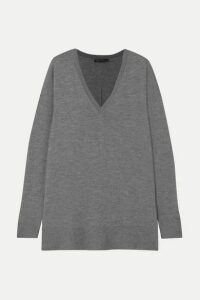 The Row - Amherst Oversized Cashmere And Silk-blend Sweater - Gray
