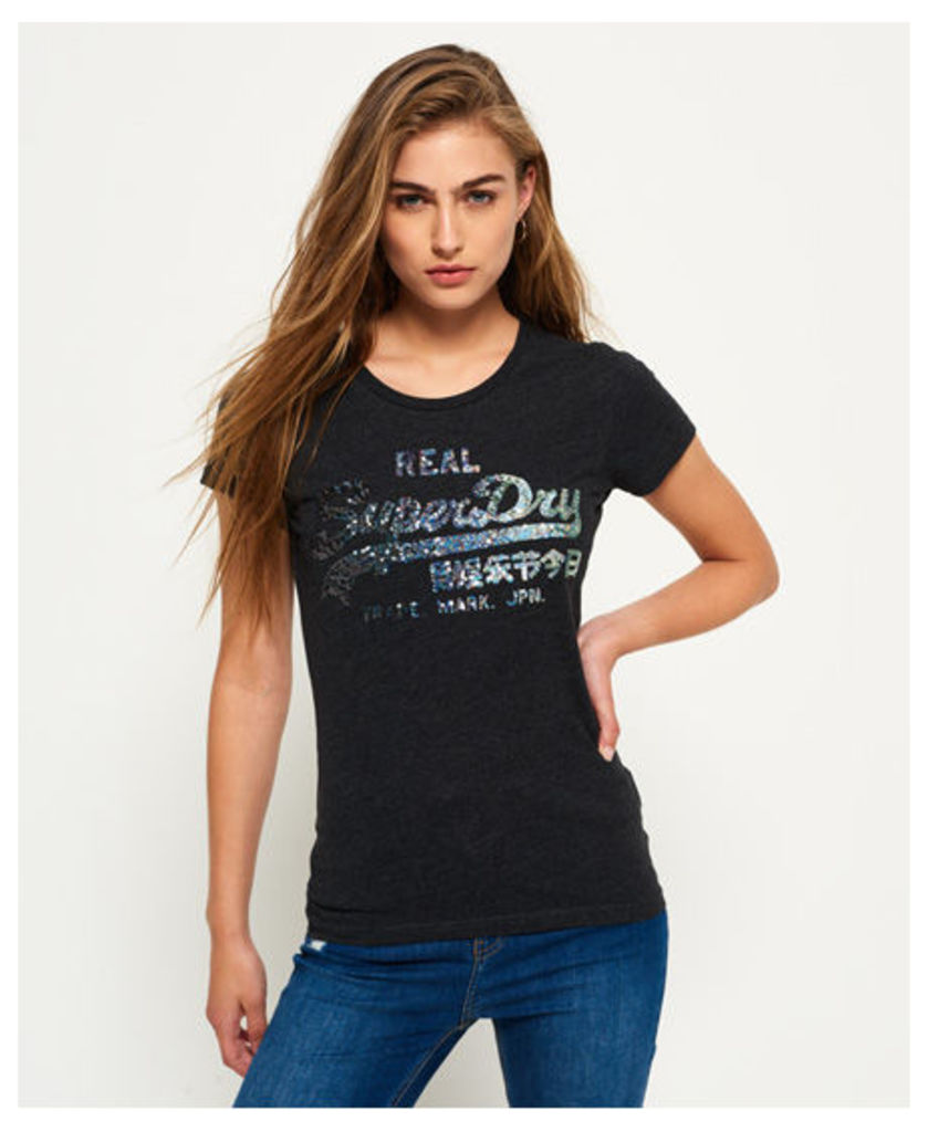 Superdry Vintage Logo Sequin T-shirt