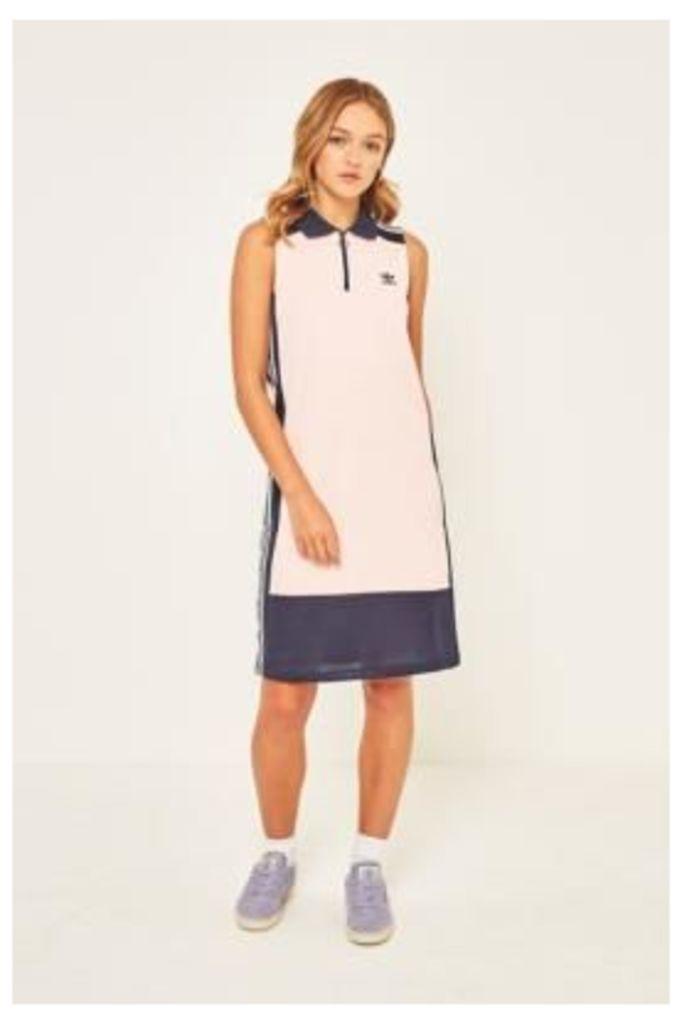 adidas Originals 3-Stripe Colour-Blocked Tank Dress, Pink