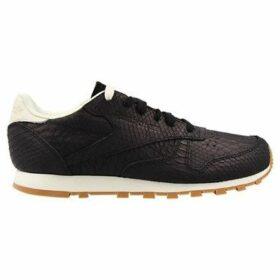 Reebok Sport  CL Lthr Clean Exoti Blackchalk  women's Shoes (Trainers) in multicolour