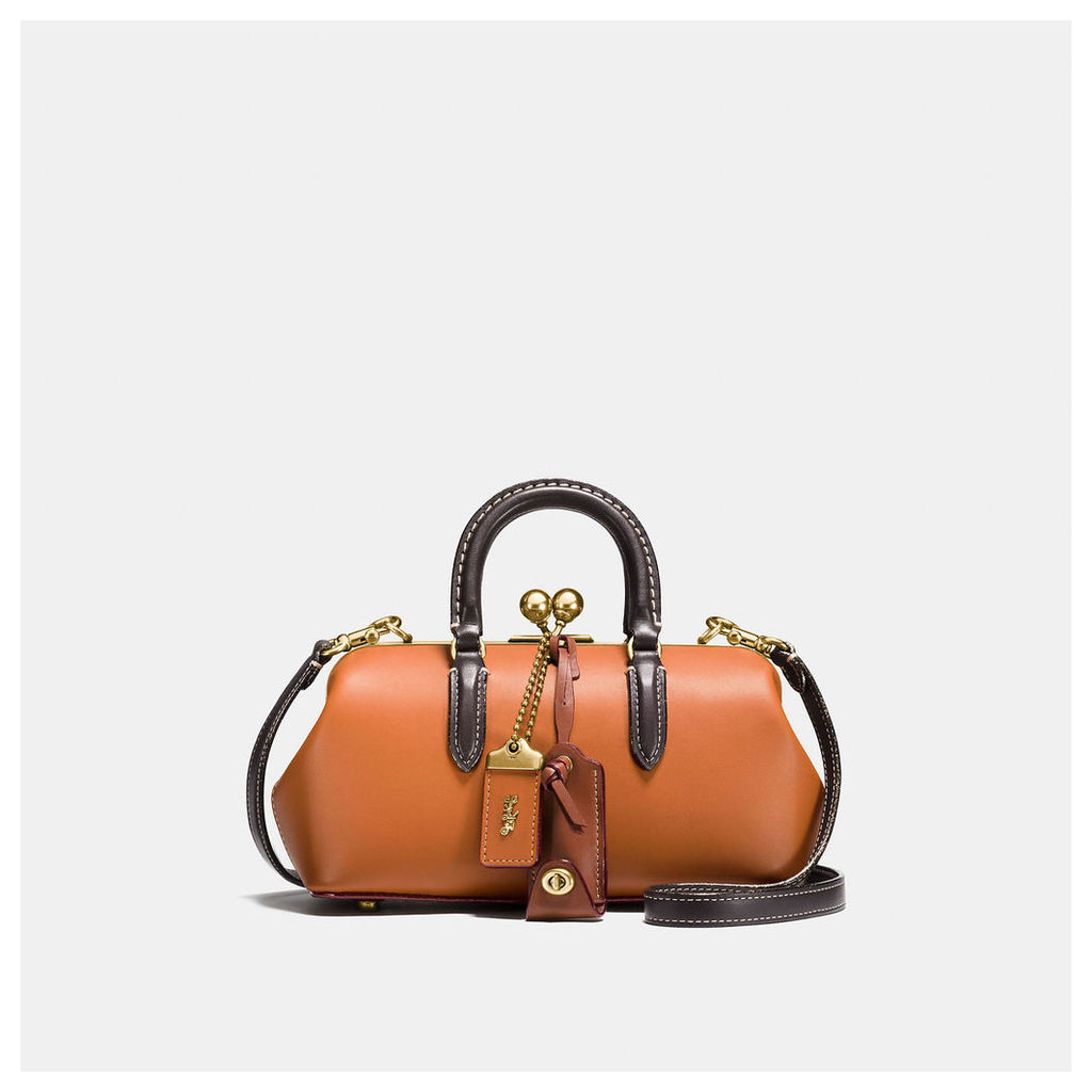 Coach Kisslock Satchel In Colorblock