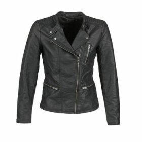 Only  FREYA  women's Leather jacket in Black