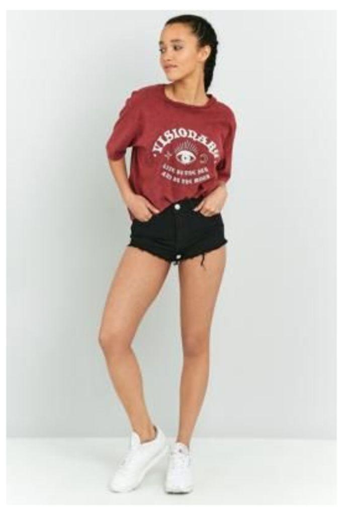 BDG Cheeky Black Denim Shorts, Black
