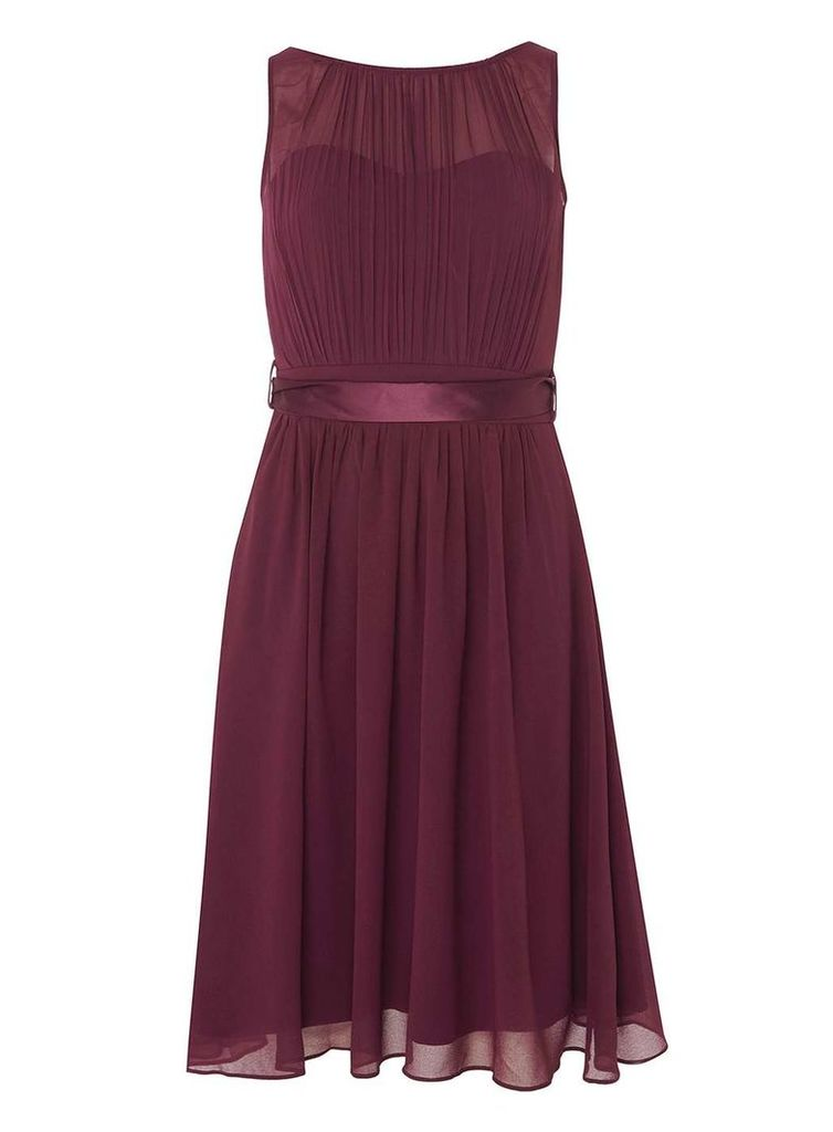 Womens **Showcase Blackcurrant 'Beth' Prom Dress- Purple