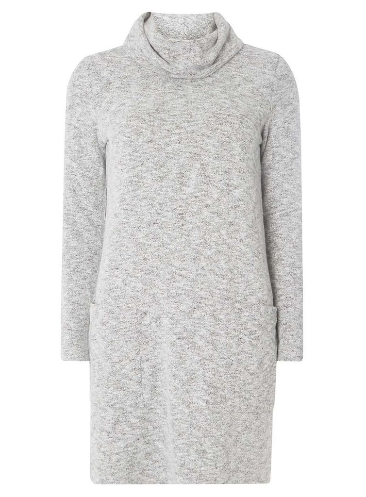 Womens Grey Cowl Neck Dress- Grey
