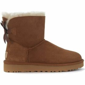 UGG  Ugg Bailey Mini ankle boots in brown suede with bow  women's Snow boots in Brown
