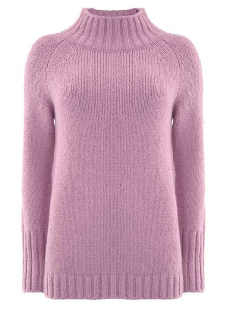 Violet Funnel Neck Boxy Knit