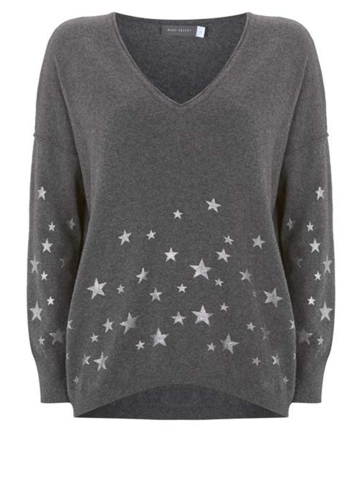 Granite Foil Star Cocoon Knit