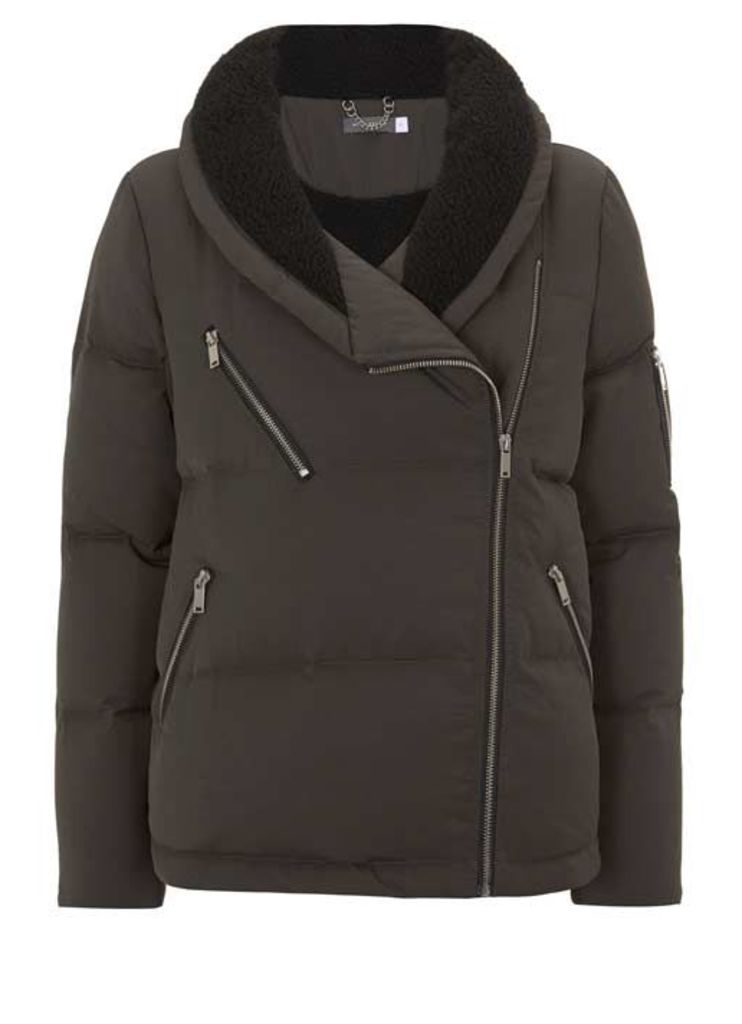 Khaki Duvet Padded Jacket
