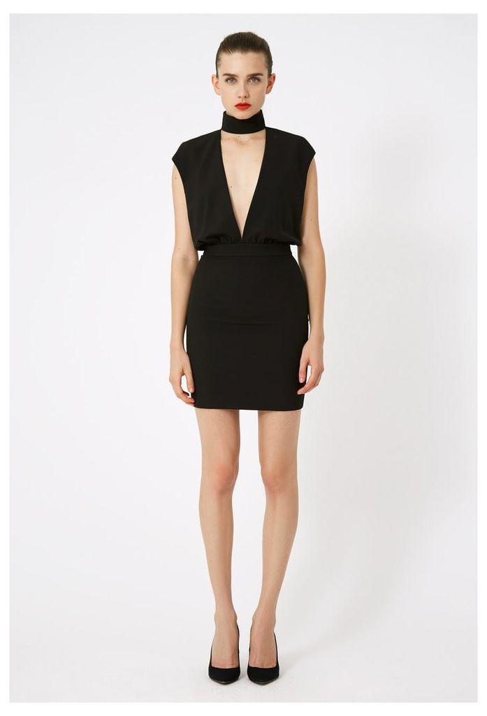 Dakota Keyhole Mini Dress - Black