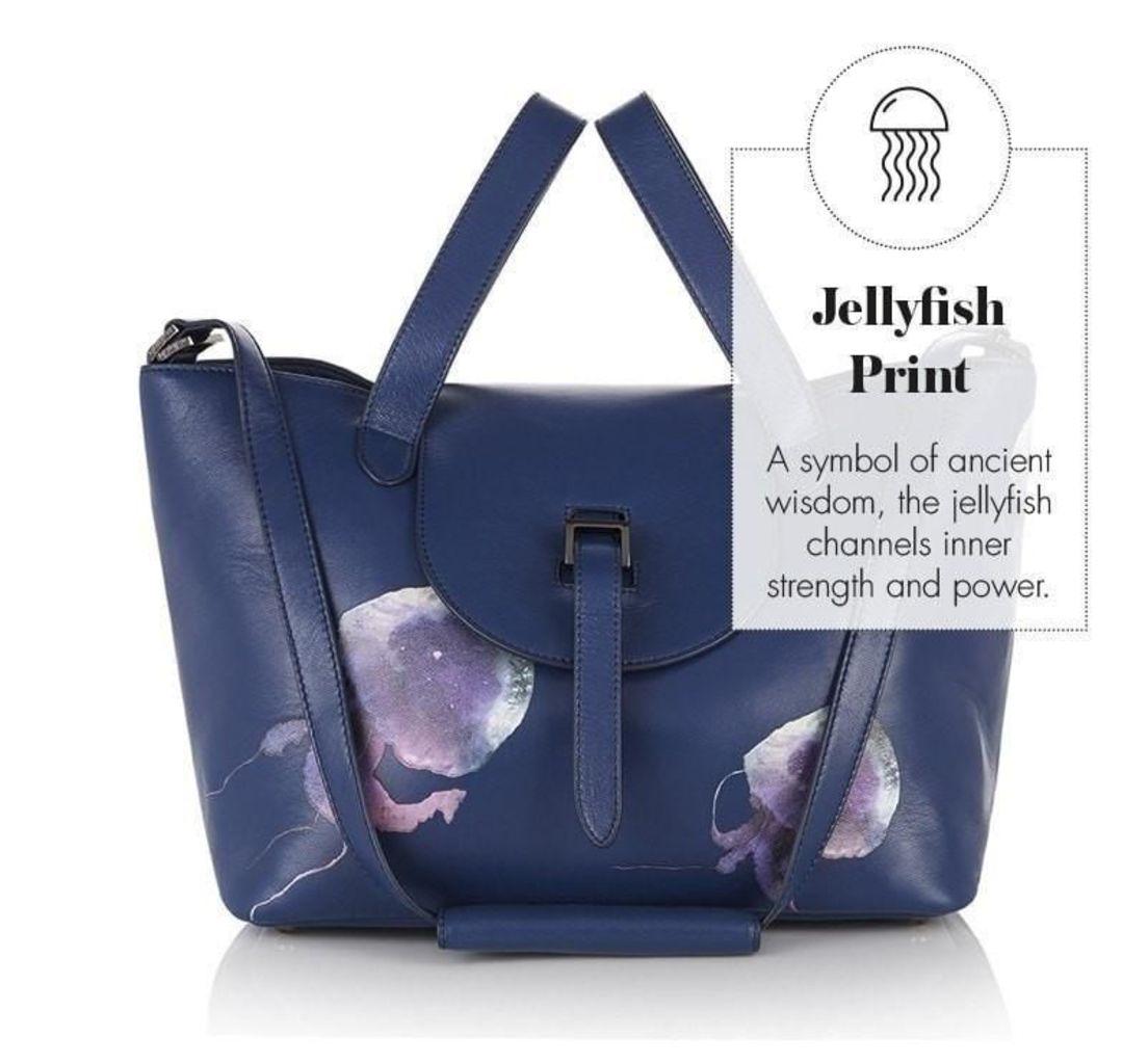 Thela Medium Tote Bag Midnight Blue Jellyfish