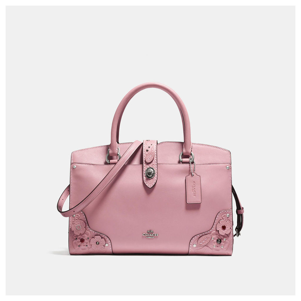 Coach Mercer Satchel 30 With Tea Rose And Tooling