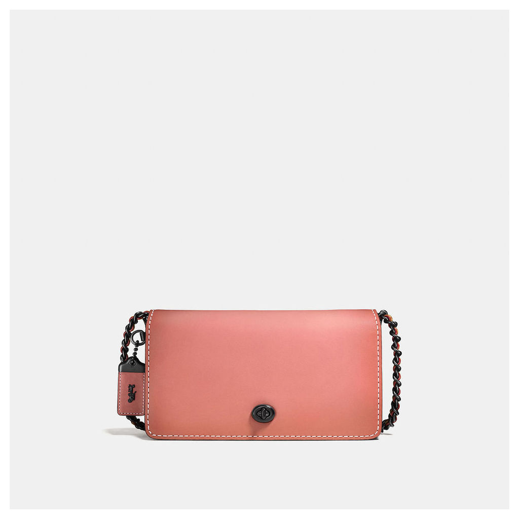 Coach Dinky Crossbody In Colorblock Leather