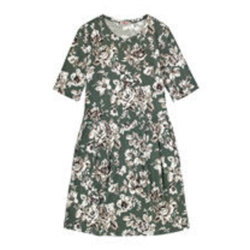 Etched Floral Cotton Jersey Dress
