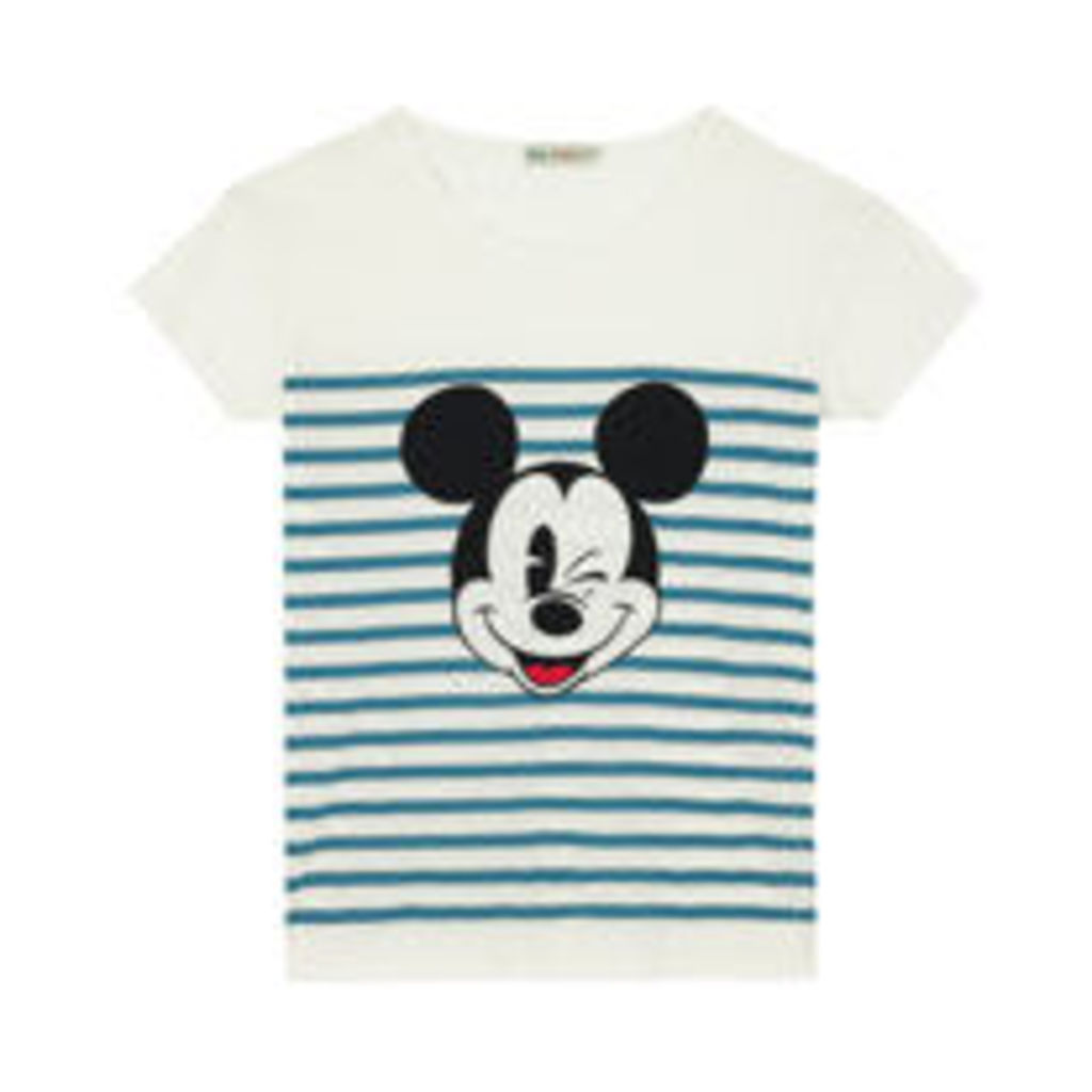 Mickey Stripe Placement T-Shirt