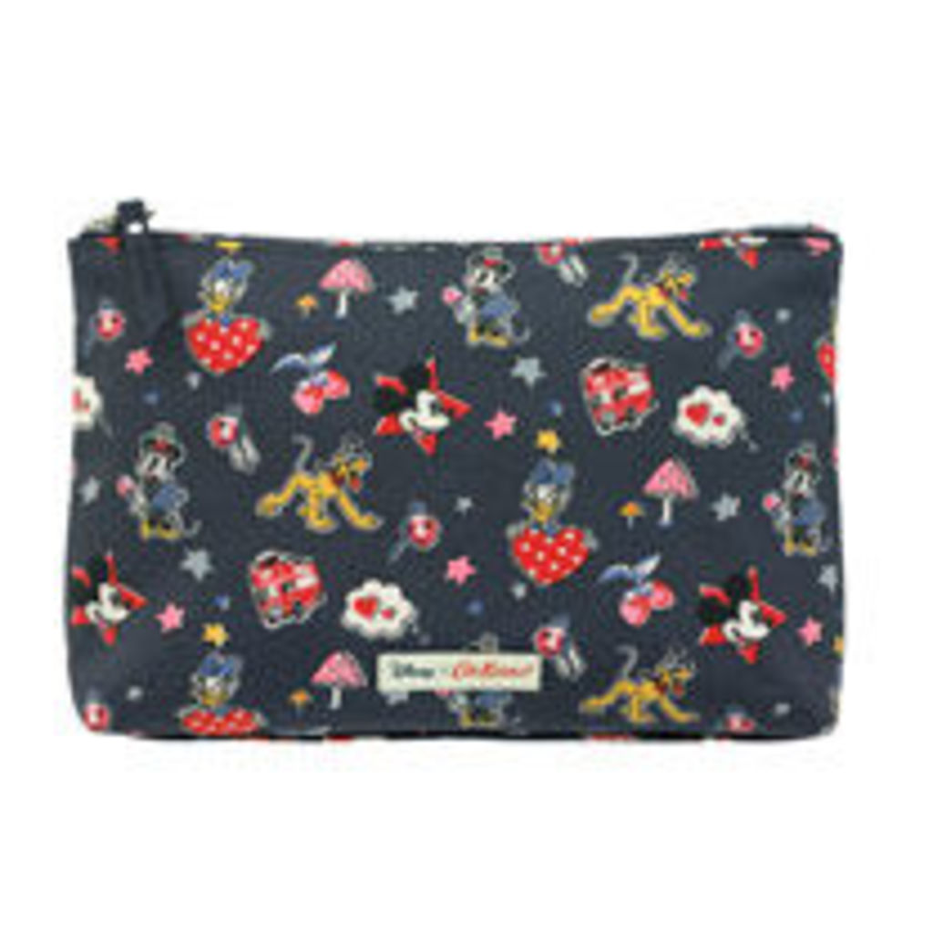 Mickey and Minnie Little Patches Zip Cosmetic Bag