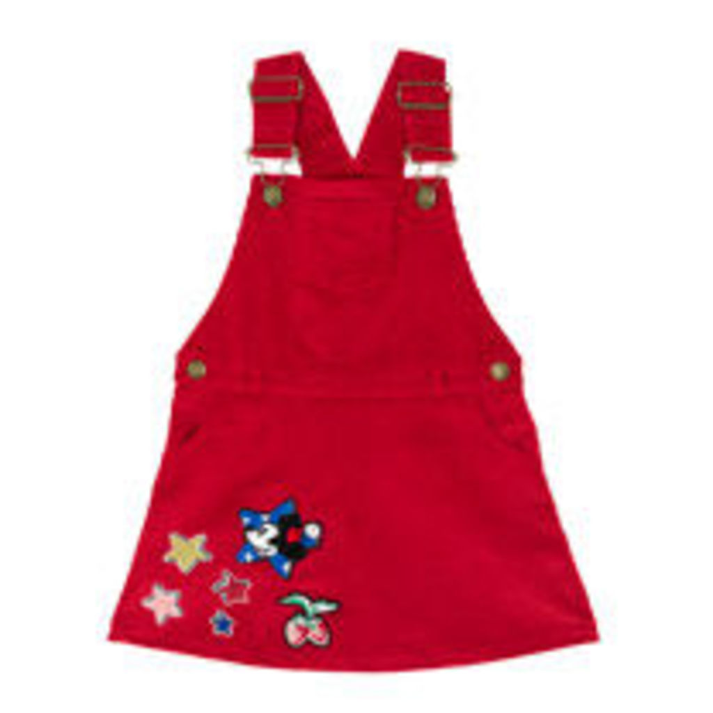 Mickey Patches Cord Dress