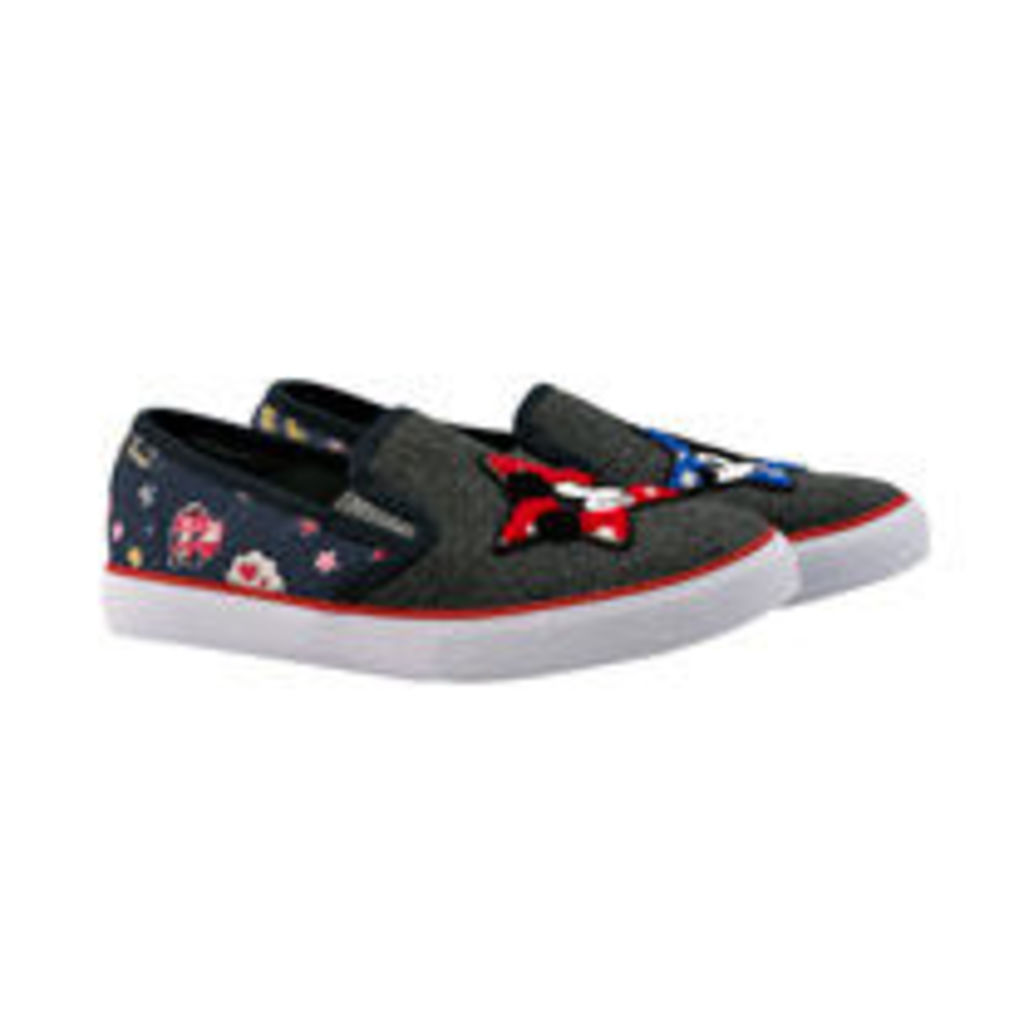 Mickey and Minnie Little Patches Slip On Trainers