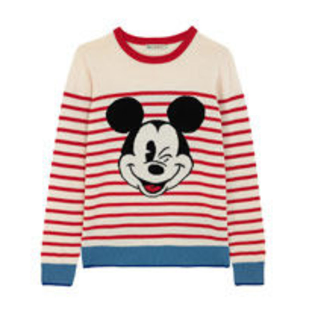 Mickey Stripe Placement Jumper
