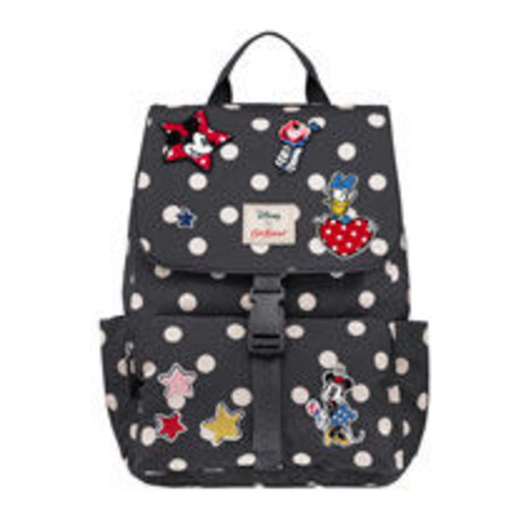 Button Spot Patches Buckle Backpack
