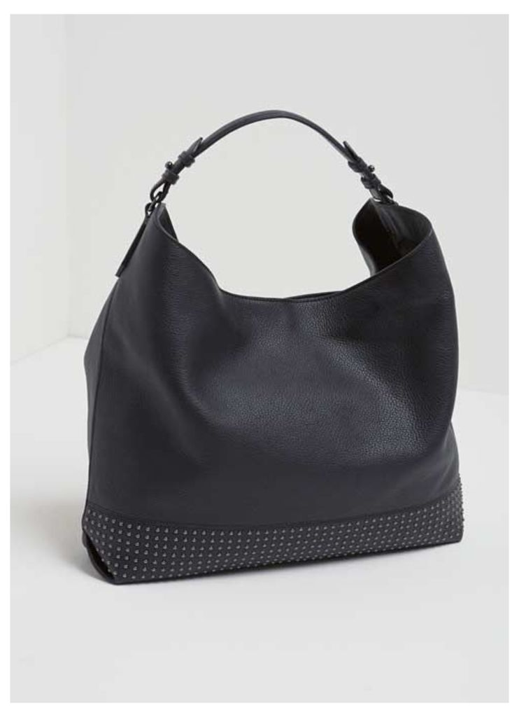 Hayley Black Stud Shoulder Bag