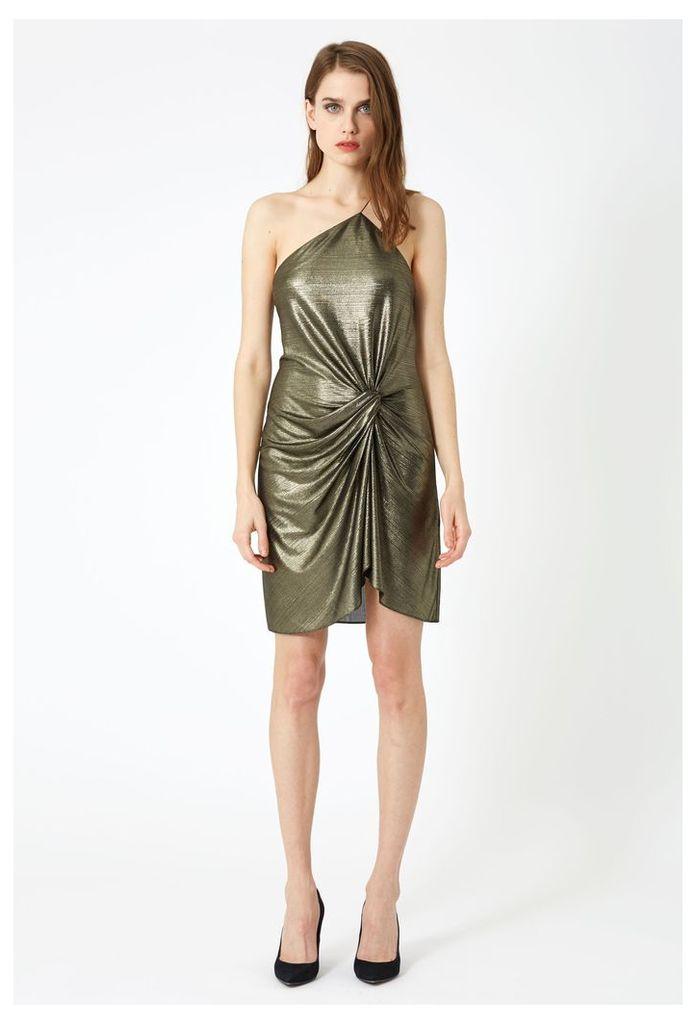 Adelle Sleeveless Mini Dress - Lame