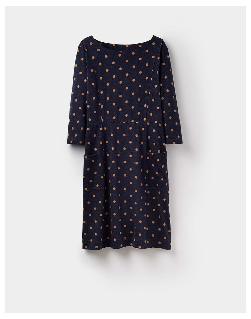 French cream spot 124449 Womens Jody spot dress  Size 8 | Joules UK