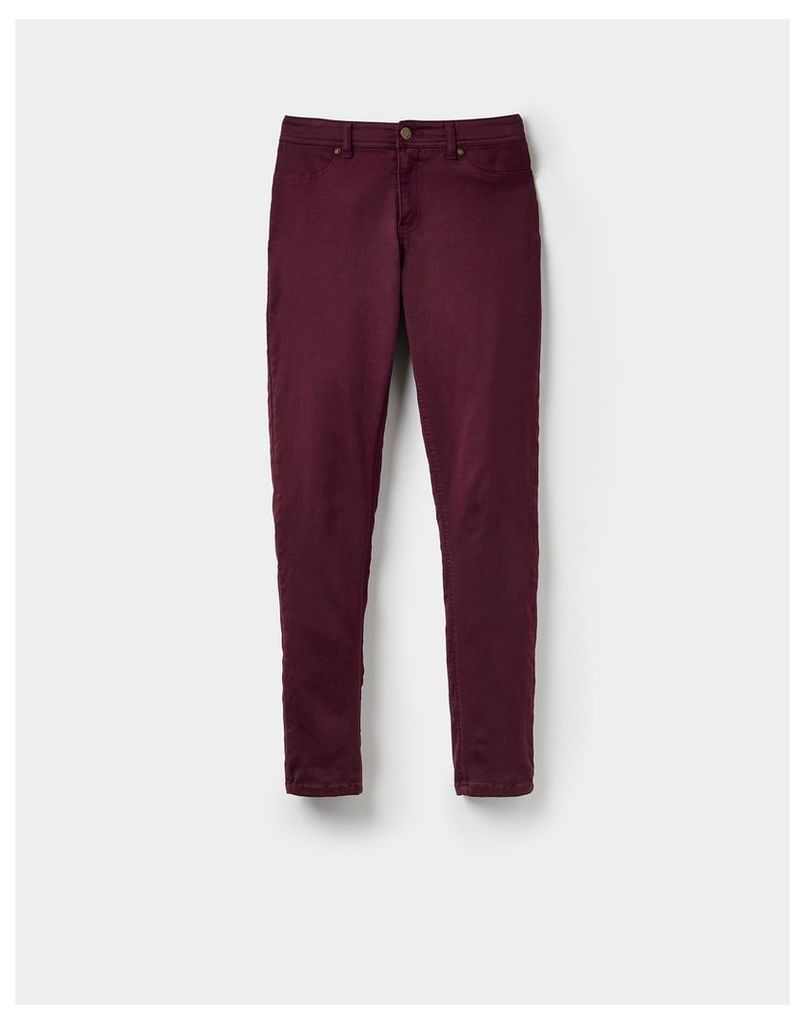 Maroon 124343 Womens Monroe skinny stretch jean  Size 14 | Joules UK