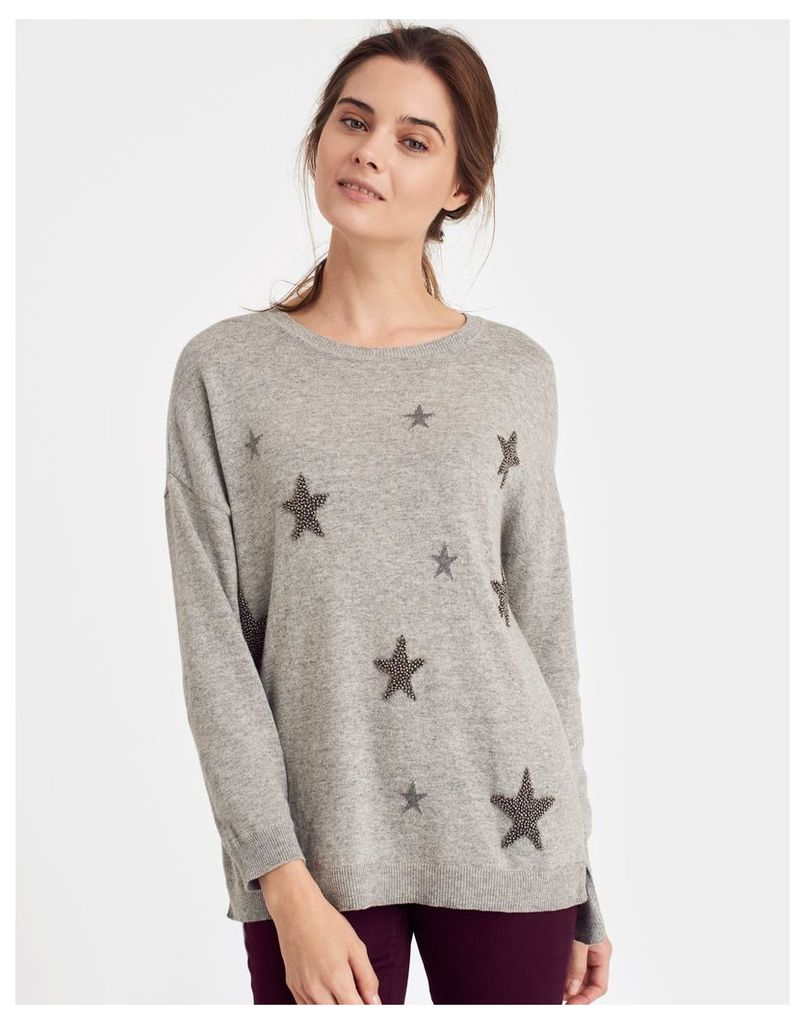 Greymarl 124294 Womens Sequined jumper  Size 12 | Joules UK