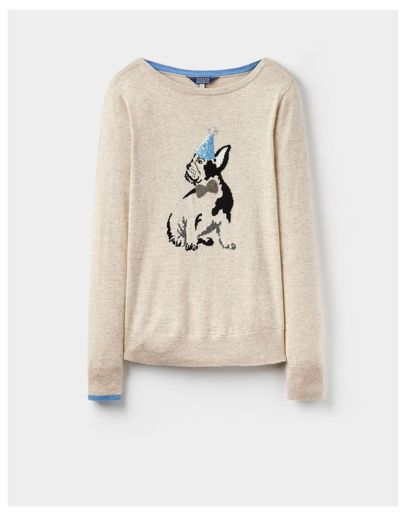 Dog 124293 Womens Sequined jumper  Size 12 | Joules UK