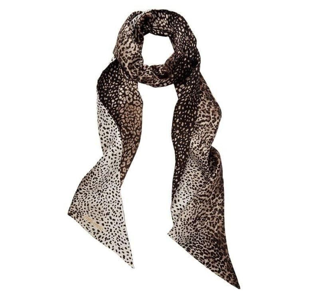 Silk Scarf Leopard Print