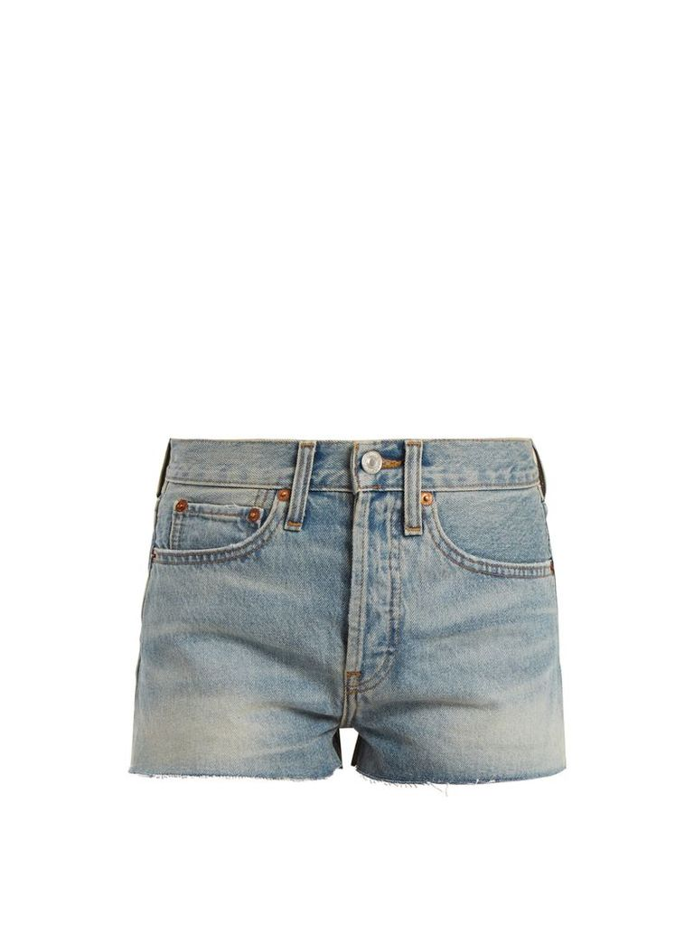 X Levi's The Short mid-rise denim shorts