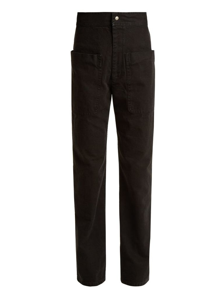 Lana patch-pocket cotton-canvas trousers