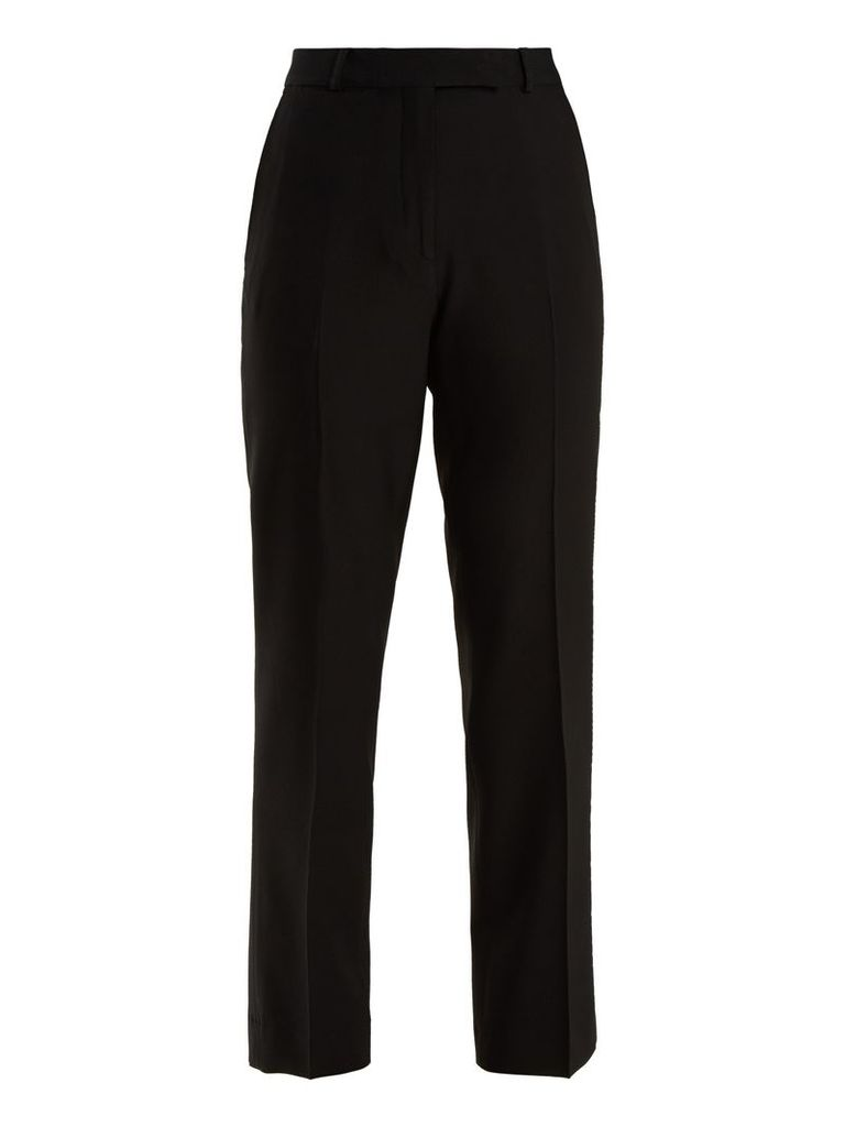 Violante straight-leg stretch-cady trousers