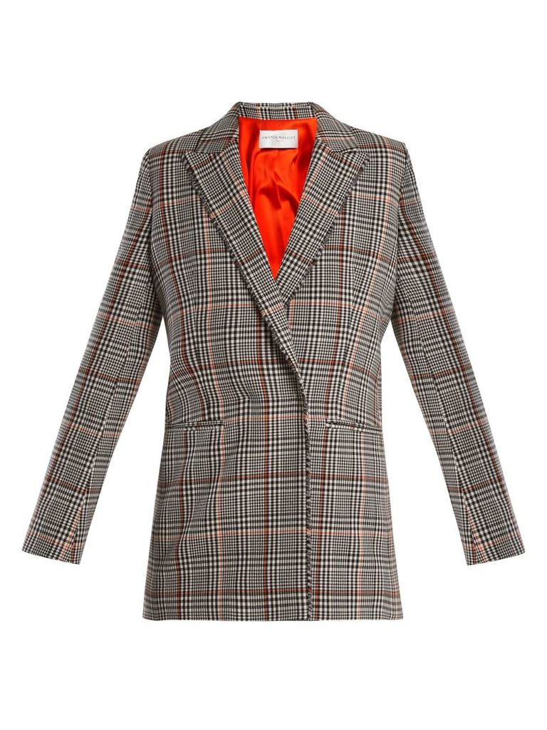 Prince of Wales-check stretch-wool jacket