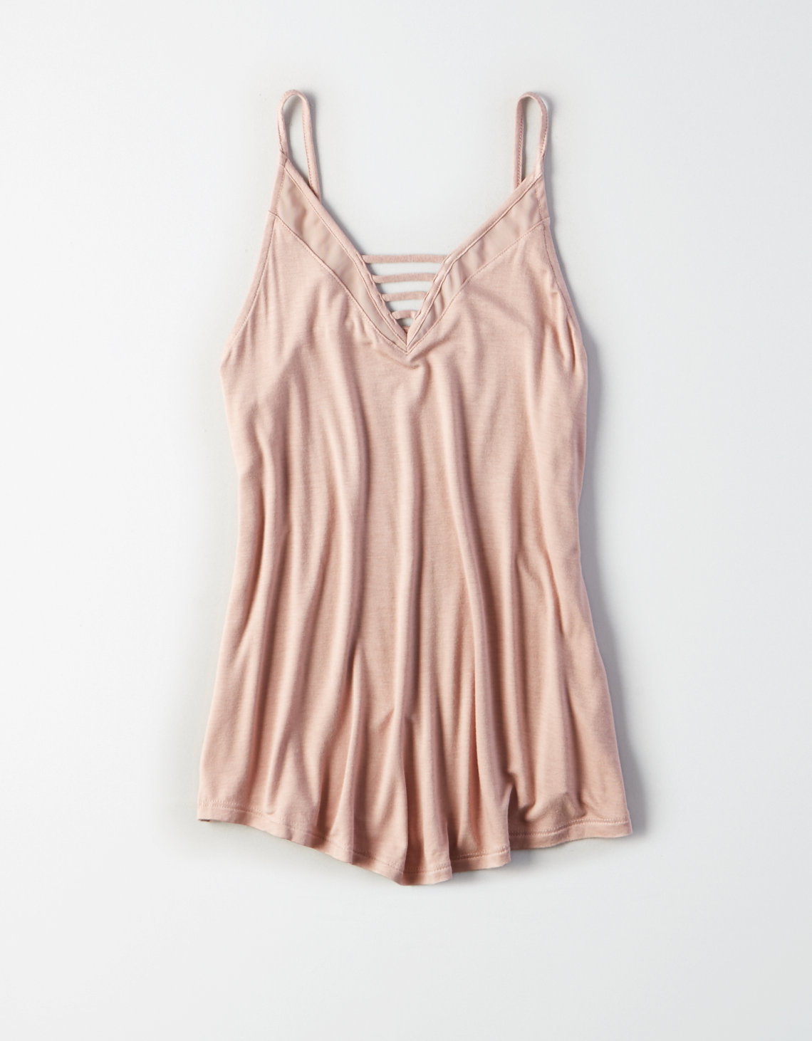 AE Soft & Sexy Strappy Mesh-Panel Tank