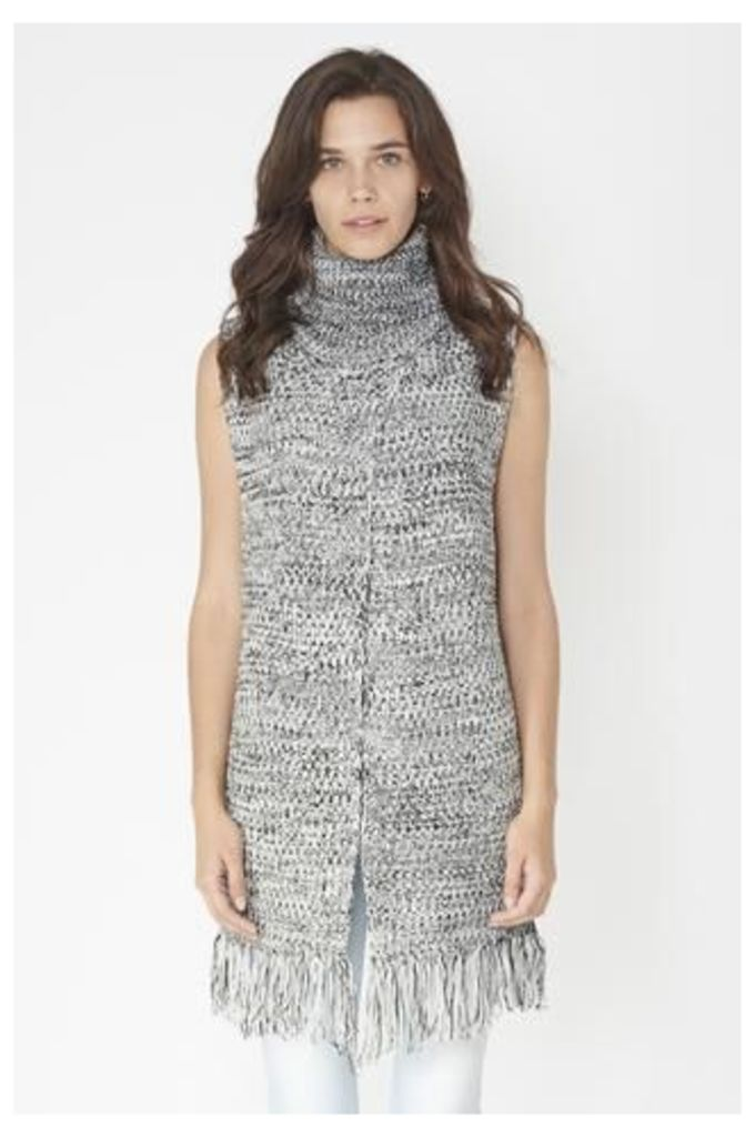 Tassled Roll-Neck Jumper Top