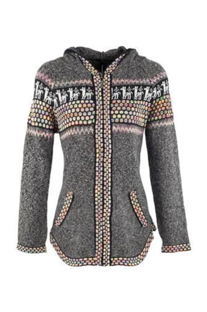 Festive Printed Knit Jacket