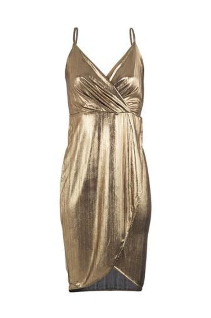 Foil Wrap Bodycon Dress