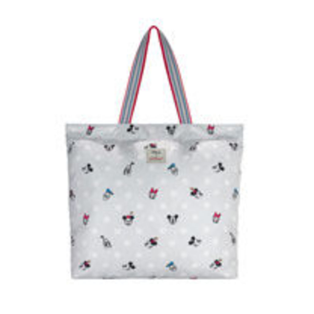 Mickey and Friends Button Spot Large Foldaway Tote
