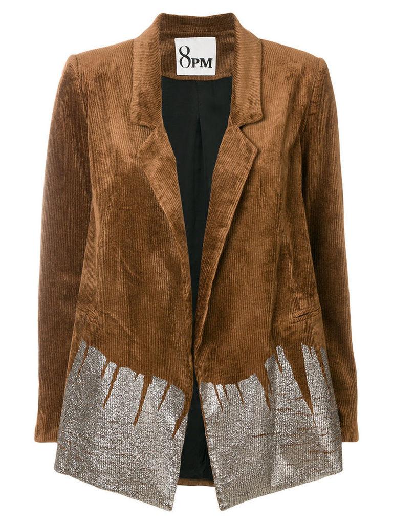 8pm - Julia corduroy blazer - women - Cotton/Viscose/Spandex/Elastane - L, Brown