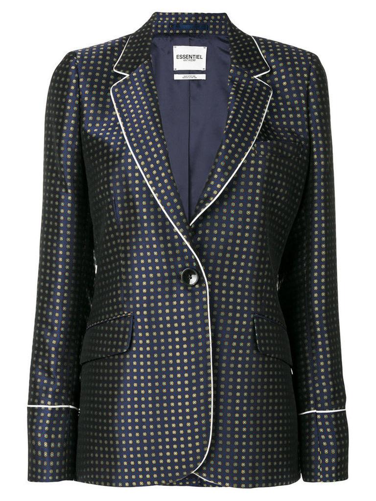 Essentiel Antwerp - embroidered blazer - women - Viscose/Acetate/Polyester - 38, Blue