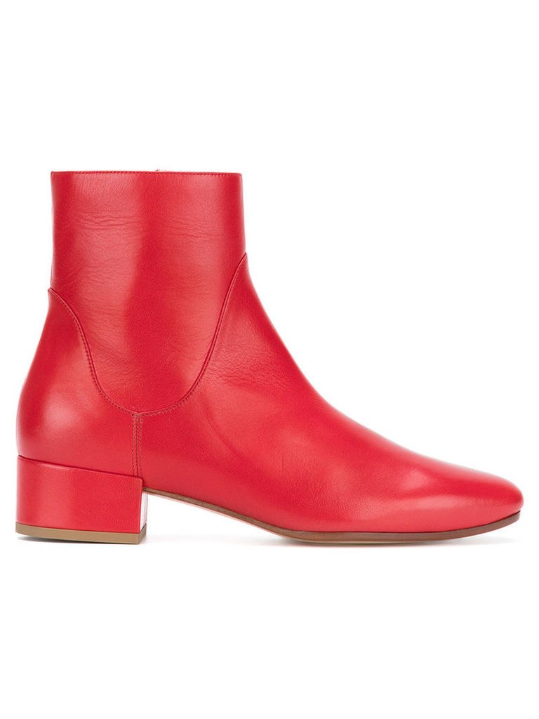 Francesco Russo - low heel boots - women - Sheep Skin/Shearling/Leather - 35.5, Red