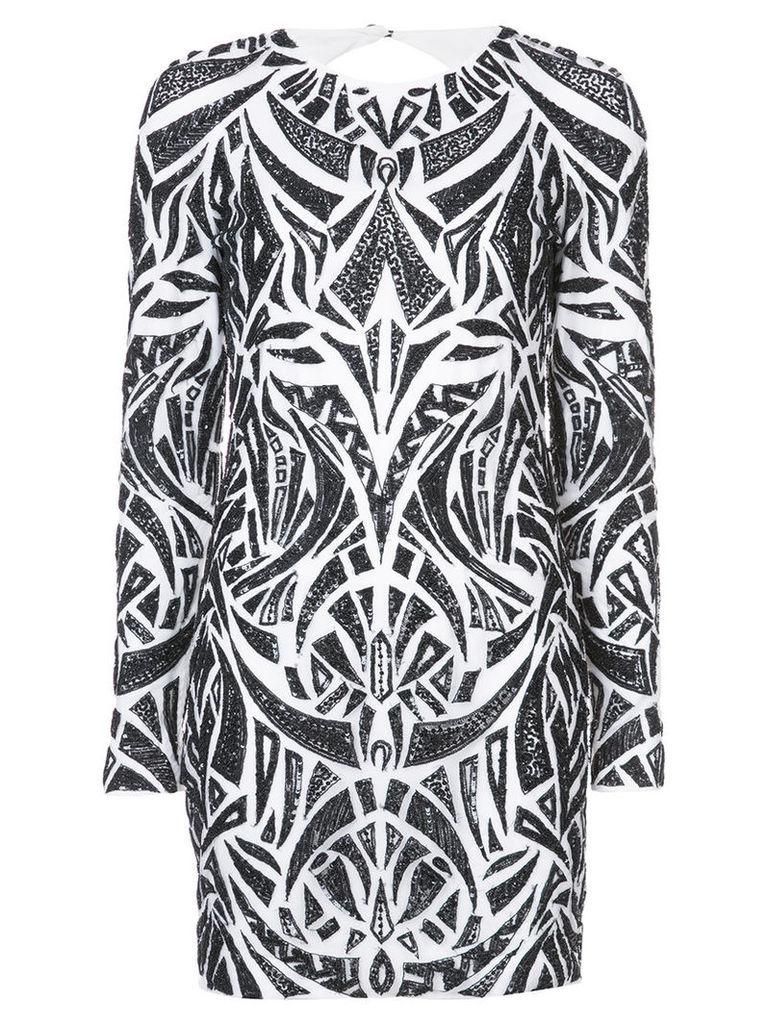 Rubin Singer - bead-embellished dress - women - Polyester/glass - 8, White