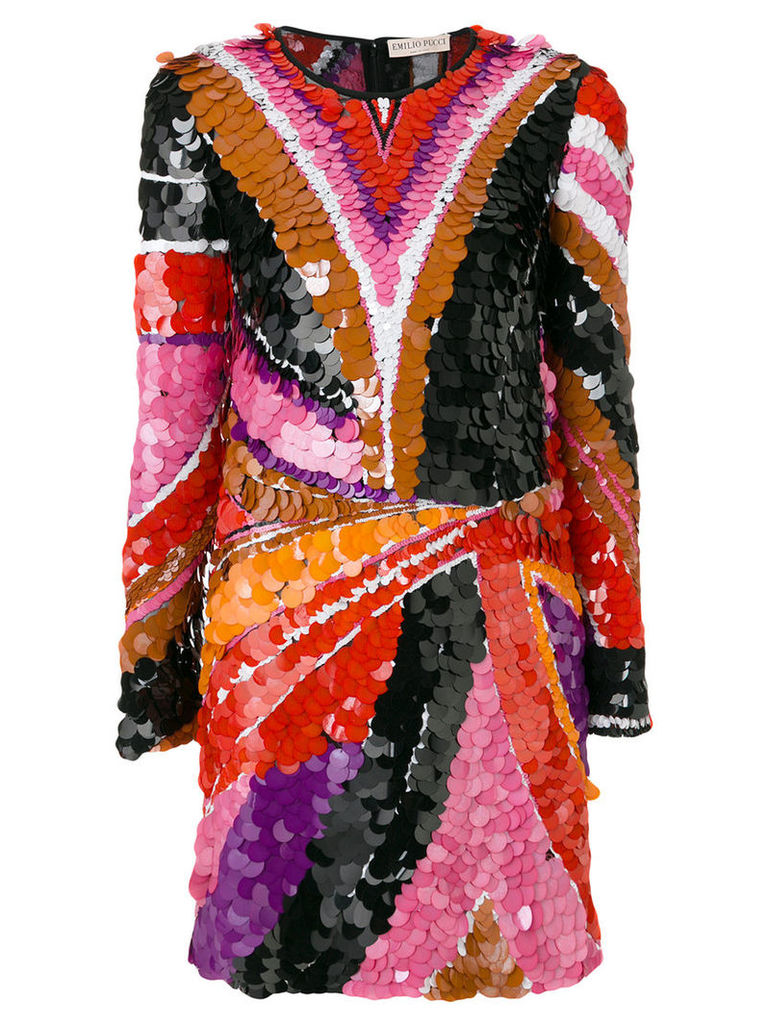 Emilio Pucci - sequinned fitted mini dress - women - Polyamide/Silk/Spandex/Elastane - 42